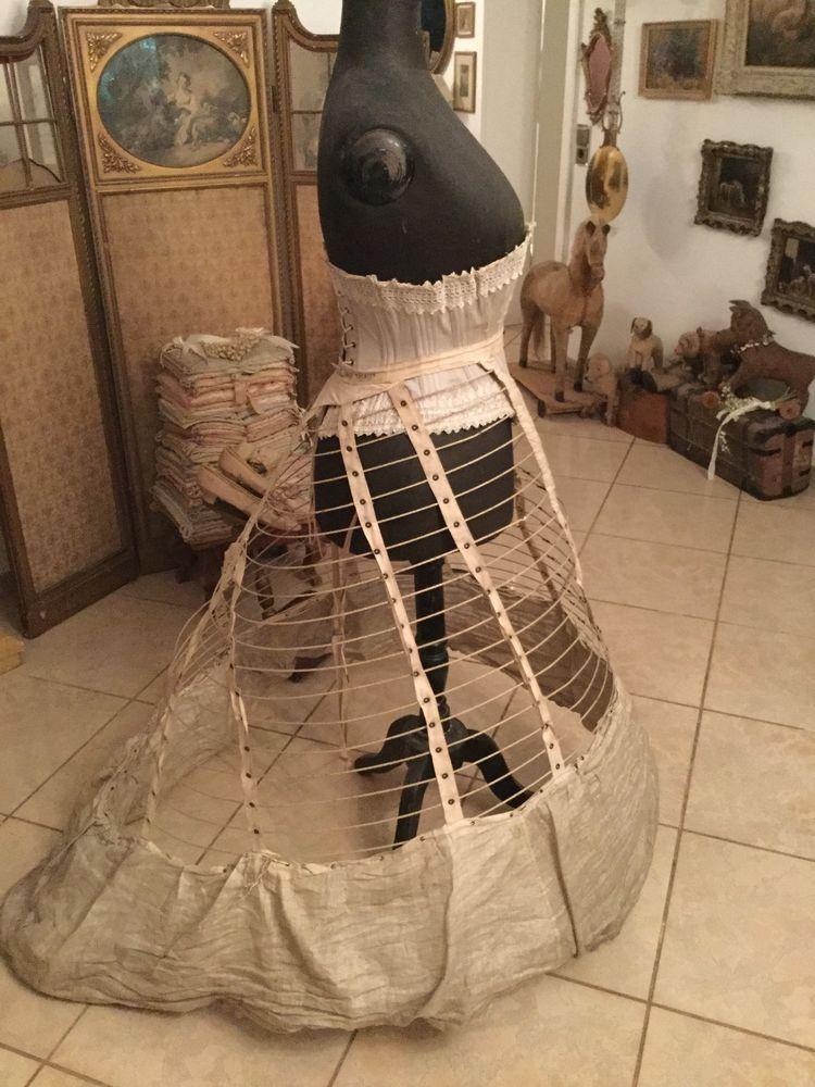 Shabby Frankreich antique thompson crinoline shabby frankreich corset mannequin french