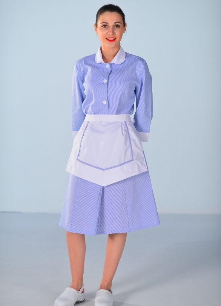 Blouse femme de chambre bleu ciel carlton pinterest chambres bleu ciel blouse femme et - Uniforme femme de chambre ...