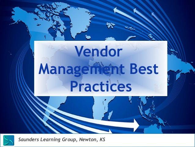 Vendor Management Best Practices | Vendor Management | Service level