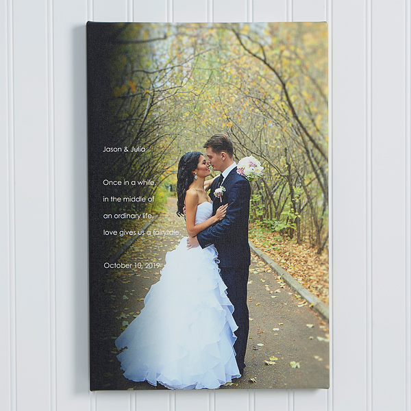 Personalized Wedding Photo Canvas Print 16x24 Wedding Gifts In 2020 Canvas Photo Prints Wedding Photo Canvas Wedding Canvas