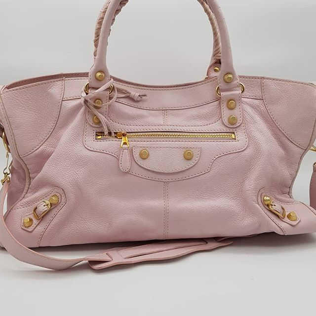 1200 wire. Preloved Balenciaga Work Bag Pink Calfskin