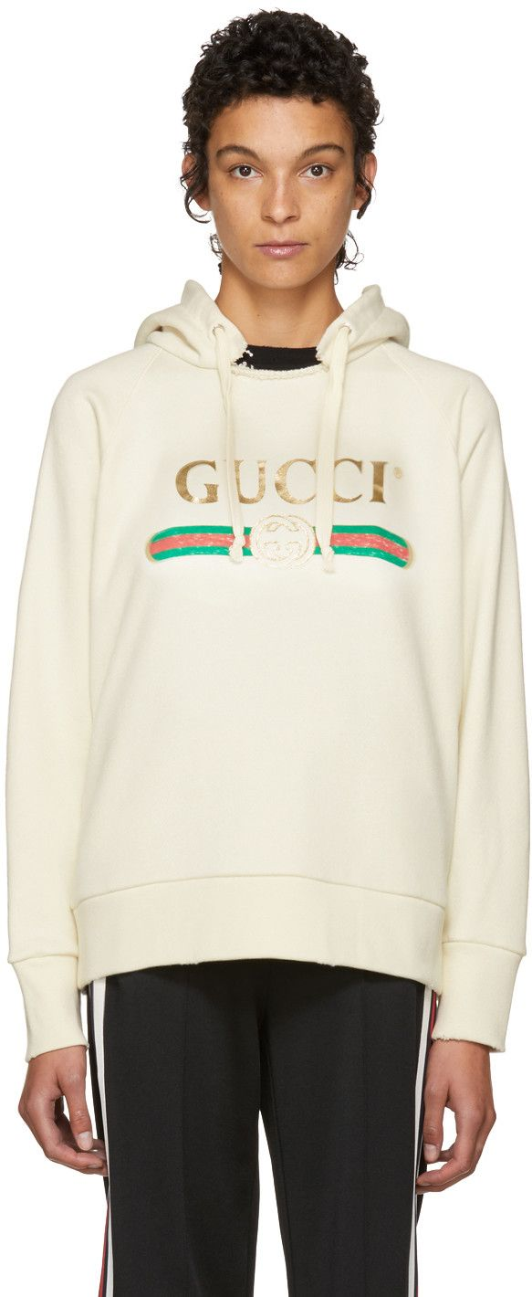 471bec178f50e Gucci - White oversized vintage  Blind For Love  hoodie