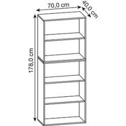 Photo of Vcm my office Xxl Lona shelf rack 4 units