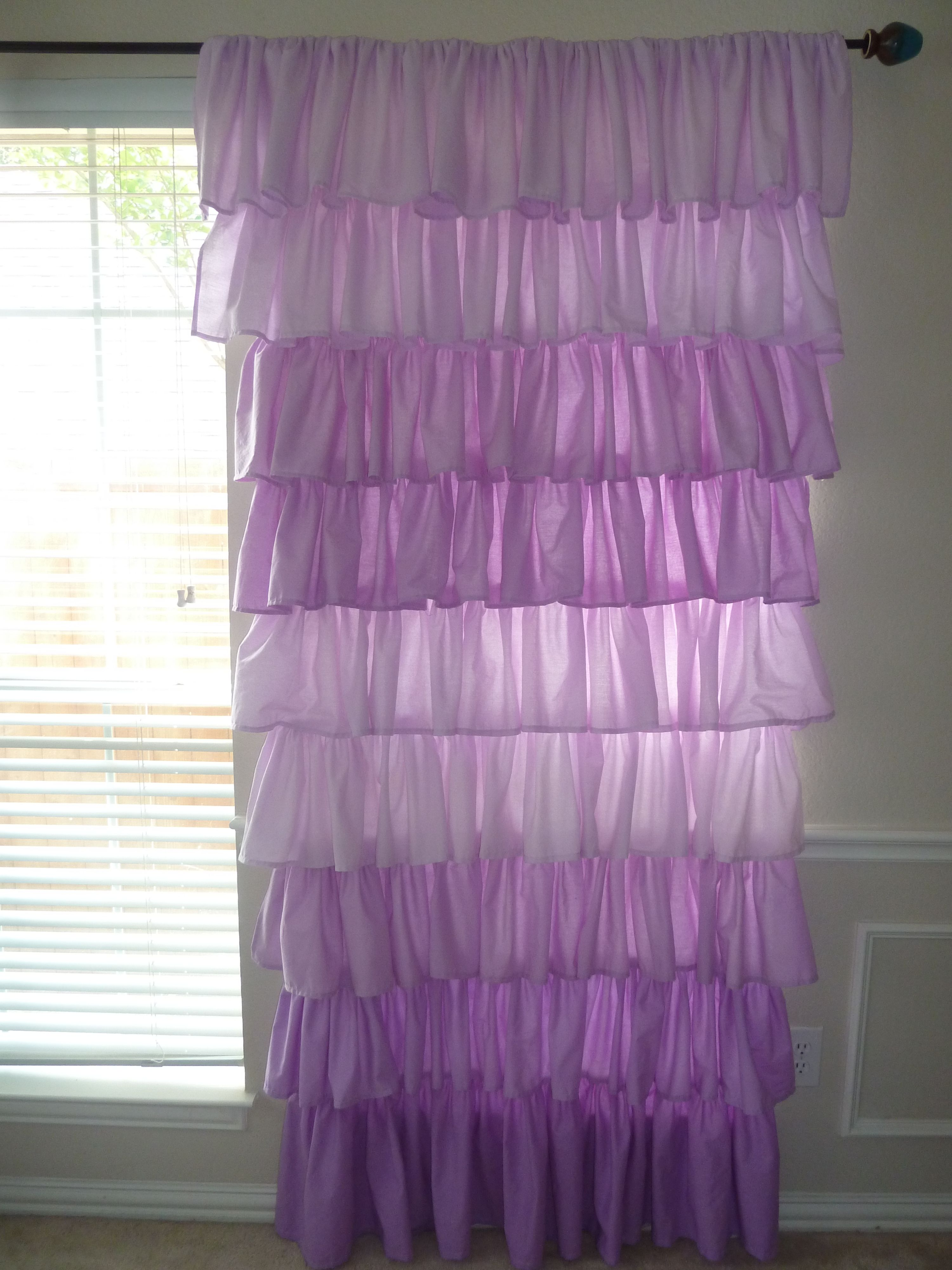 Ombre ruffle curtain - Ombre Ruffle Curtains Beautiful In A Nursery Or A Little Girls Rm Etsy