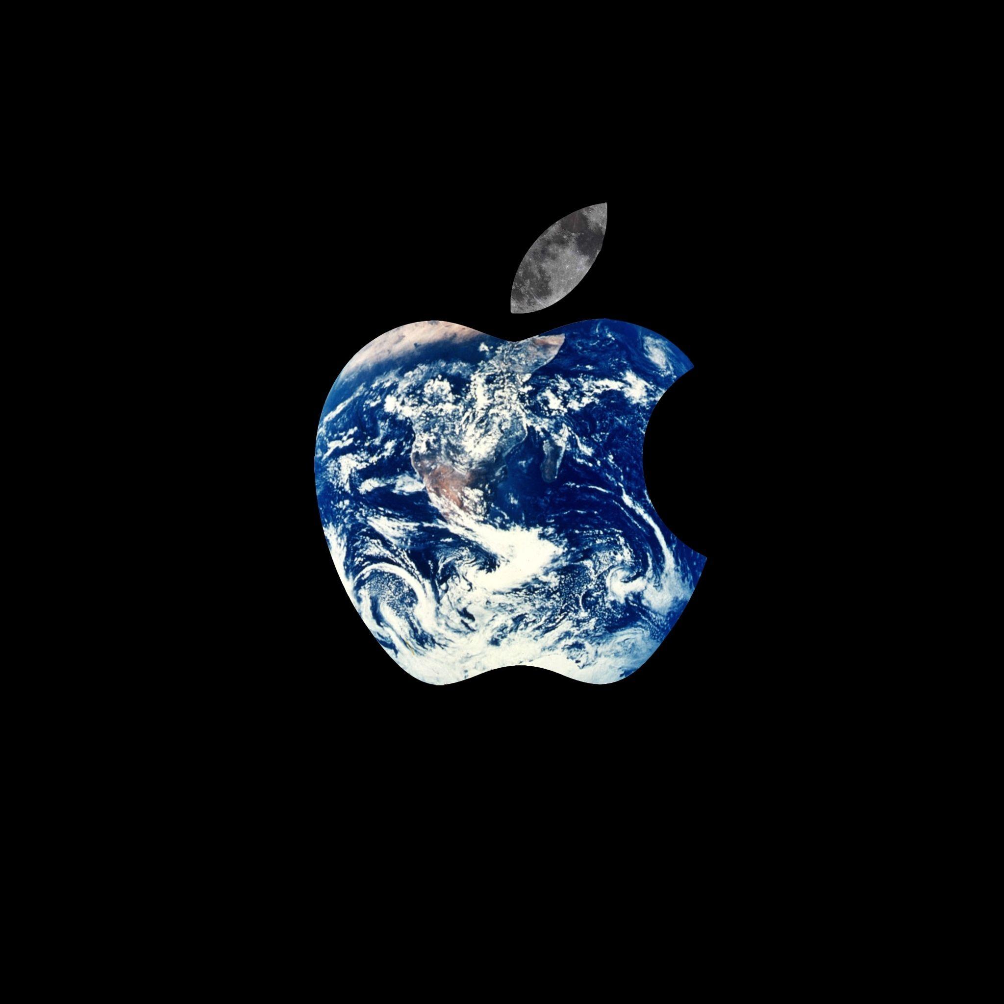 Earth Apple Logo iPad Wallpaper HD iPad wallpaper