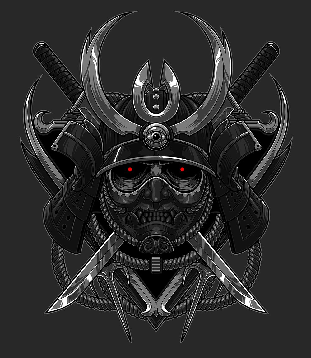 the blackout samurai on behance illustration drawing pinterest samurai behance and tattoo. Black Bedroom Furniture Sets. Home Design Ideas
