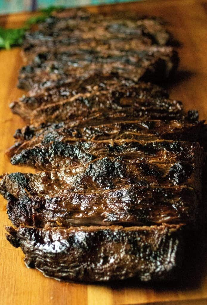 Soy Marinated Broiled Flank Steak