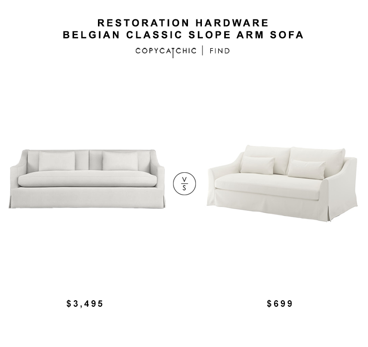 Restoration Hardware Belgian Clic Slope Arm Sofa For 3495 Vs Ikea Farlove Sofaa 699 Copycatchic Luxe Living Less Budget Home Decor And Design
