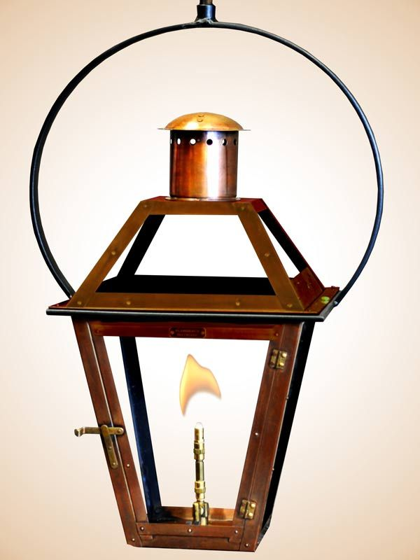 Bourbon Street Hanging Yoke Gas Lanterns Gas Lights Outdoor Porch Lights