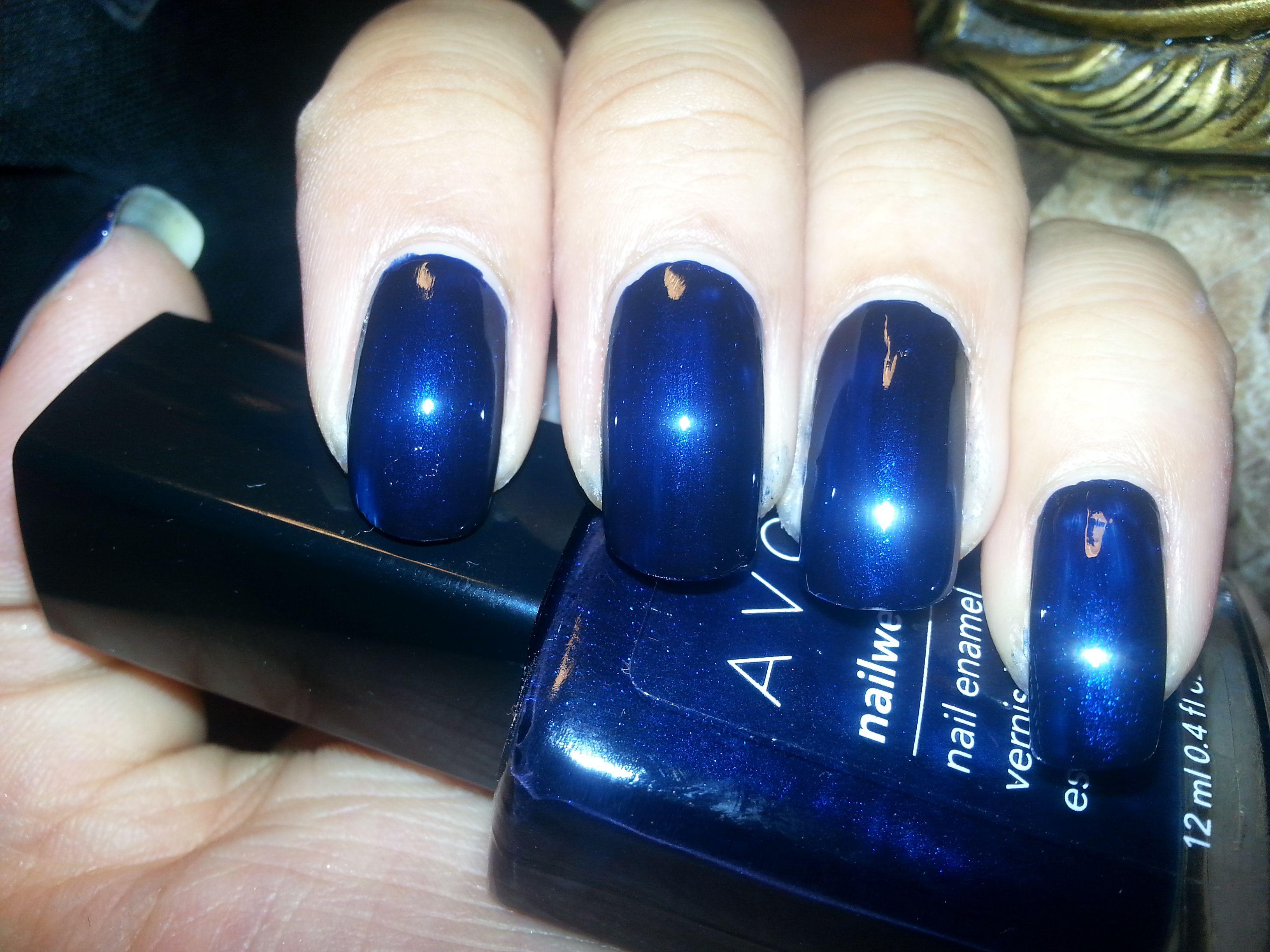 AVON Inky Blue #nailpolish #bluenailpolish #fallnails #avon   INKY ...