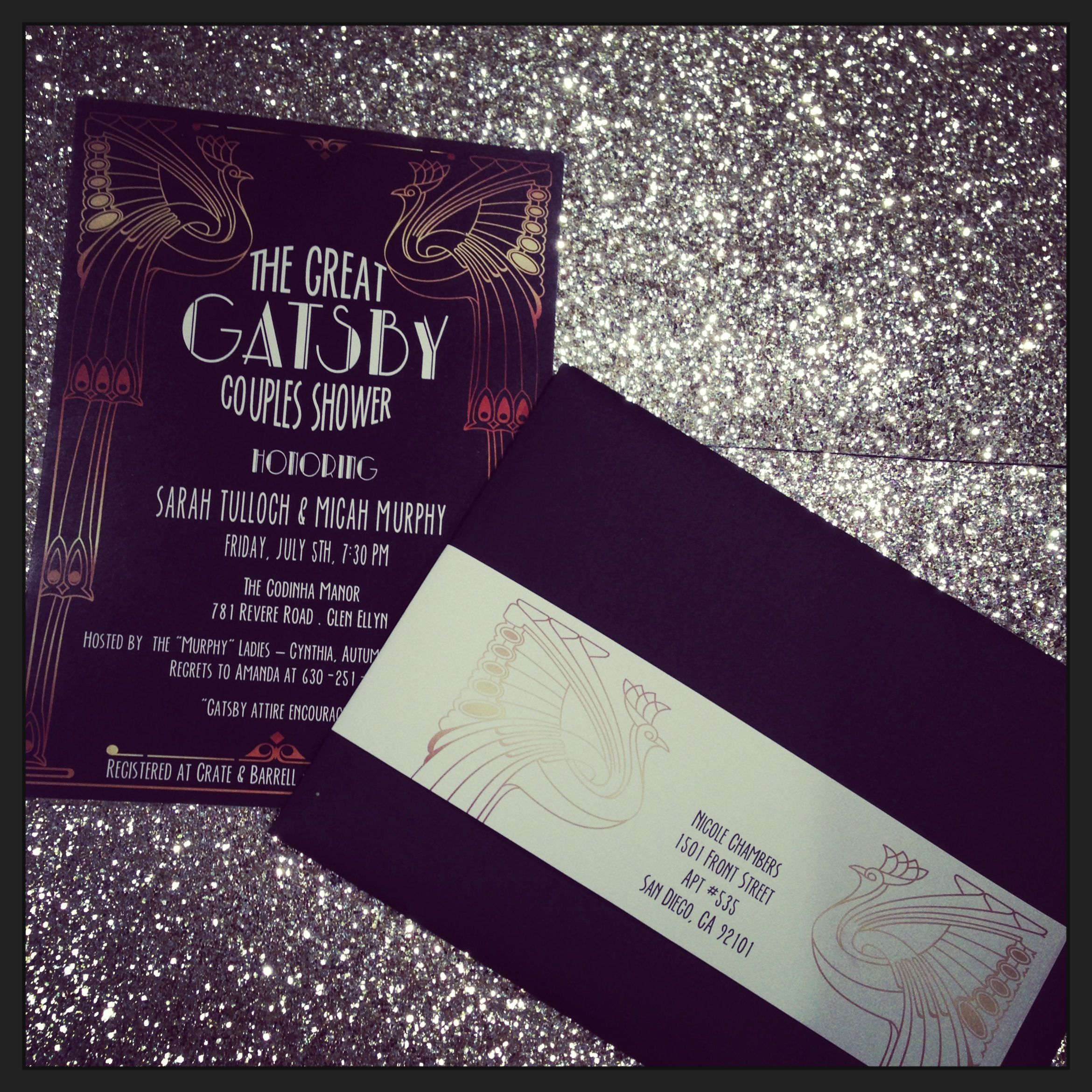 Great Gatsby party invite | Maria Bella Boutique Events | Pinterest ...