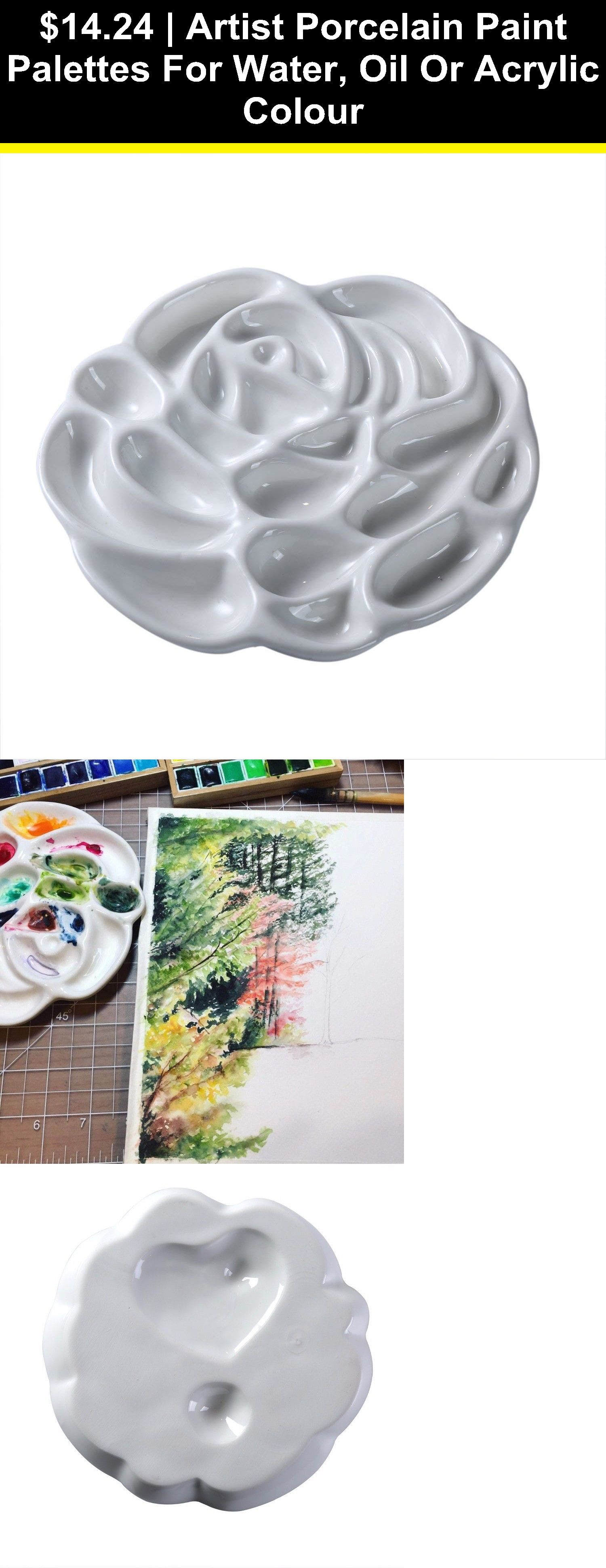 Details about Artist Porcelain Paint Palettes for Water