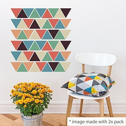Walplus tm stickers muraux repositionnables triangles décoration de la maison 49