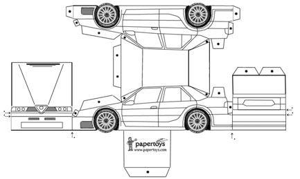 Carros Para Armar En Papel Imagui Recortables Coches Paper