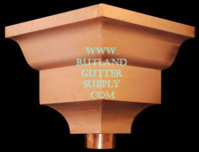 Collector Box Leader Head Conductor Head Gutter Rutland Aluminum Paint