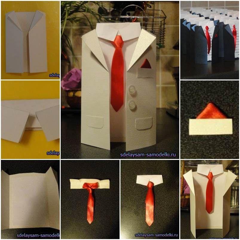 How to DIY Handmade Men-Suit Invitation Cards Scissors - formal handmade invitation cards