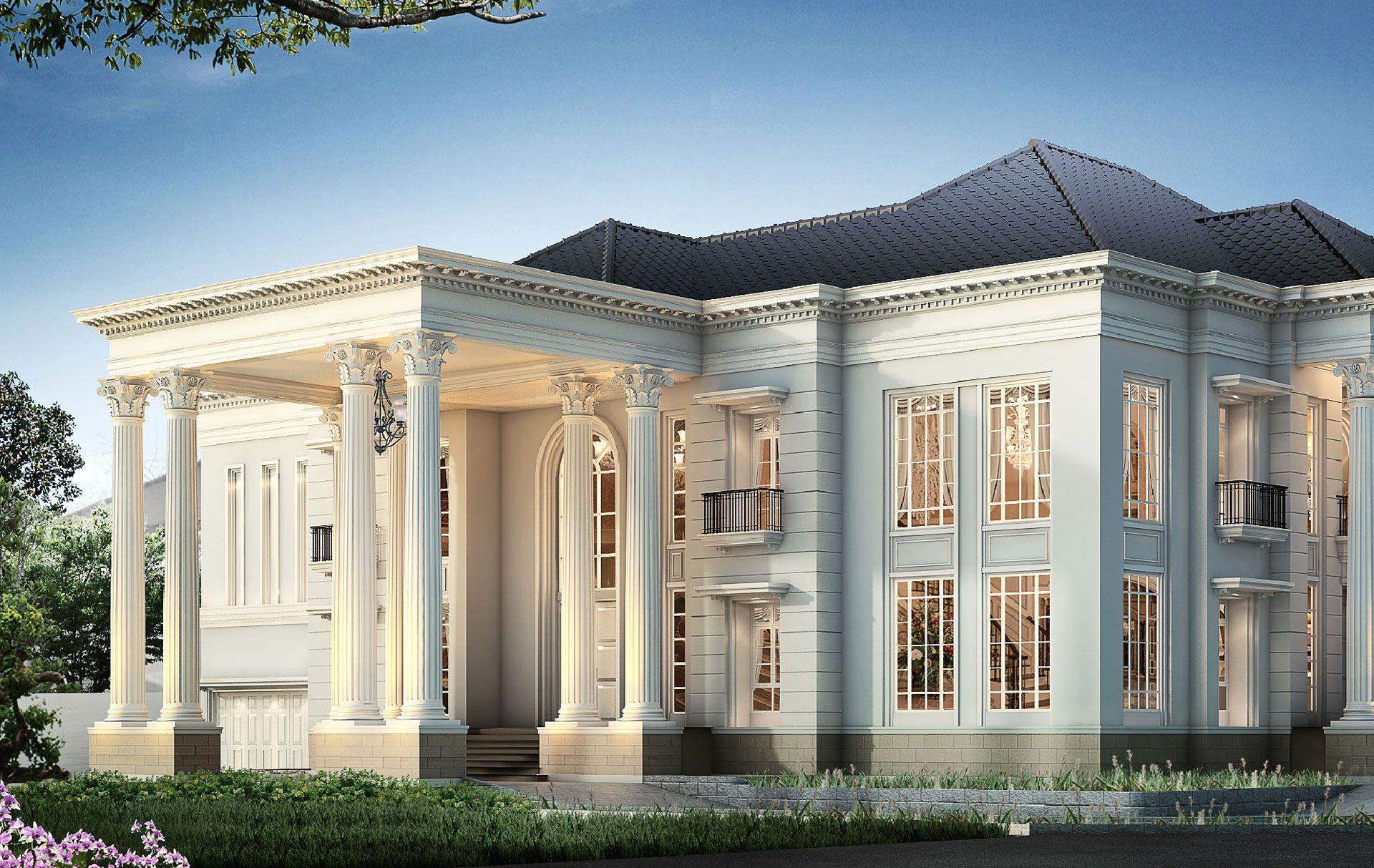 Rumah Klasik Home Rumah Mewah Arsitektur Gaya Rumah