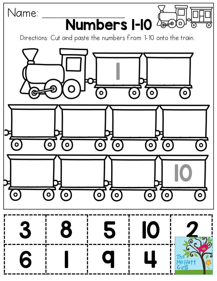 Math Worksheets Cut : Cut and paste numbers you could use this as a one