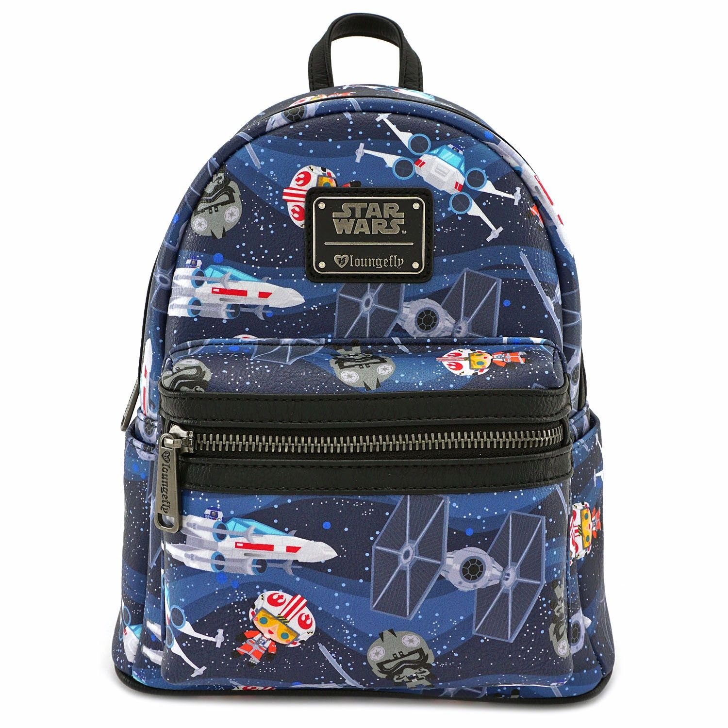 42b97a21632 Loungefly x Star Wars Chibi Ships Print Mini Backpack - View All - Whats New