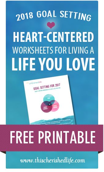FREE Printable Goal-setting worksheets for work-life balance for ...