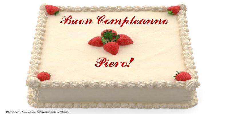 Torta Con Fragole Buon Compleanno Piero Parole Pinterest