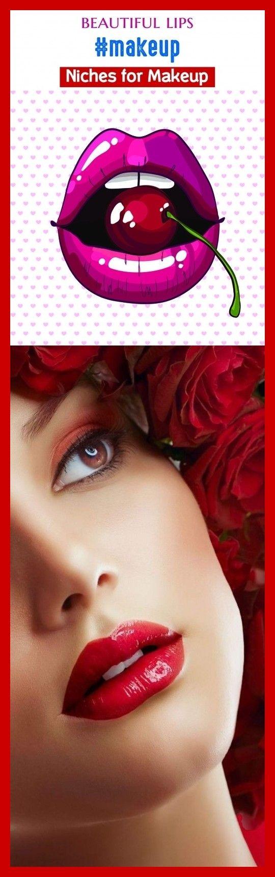 Beautiful lips makeup blog seo beauty. lips drawing