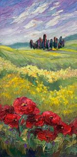 "Plein Air Artists International: New ""Carpet of Crimson"" Tuscany Painting by Niki G..."