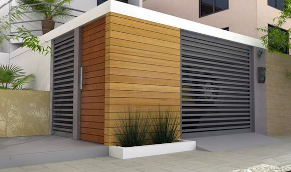 rejas horizontales para casas modernas