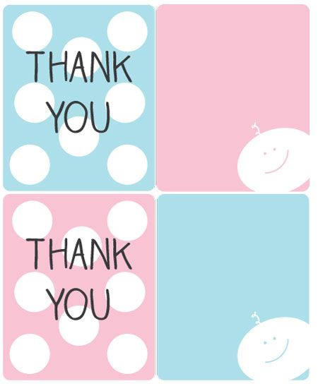 graphic relating to Free Printable Baby Shower Thank You Tags named Pin upon Little one shower deco