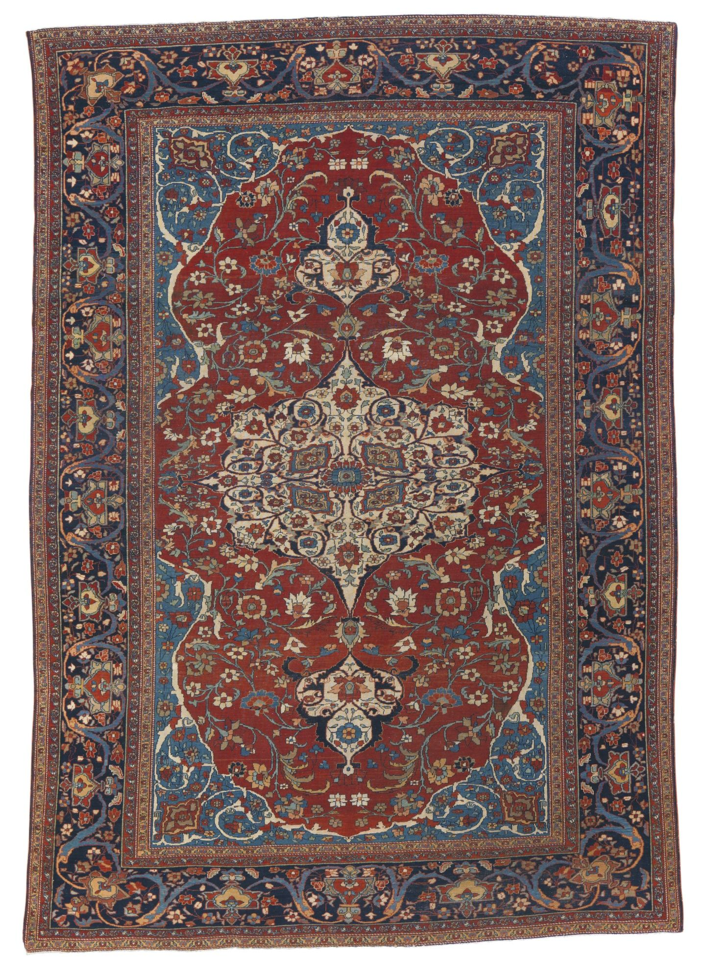 Sarouk Fereghan Carpet North Persia Approximately 10ft By 7ft 3 05 By 2 13m Circa 1890 Asian Rugs Carpet Fabric Carpet