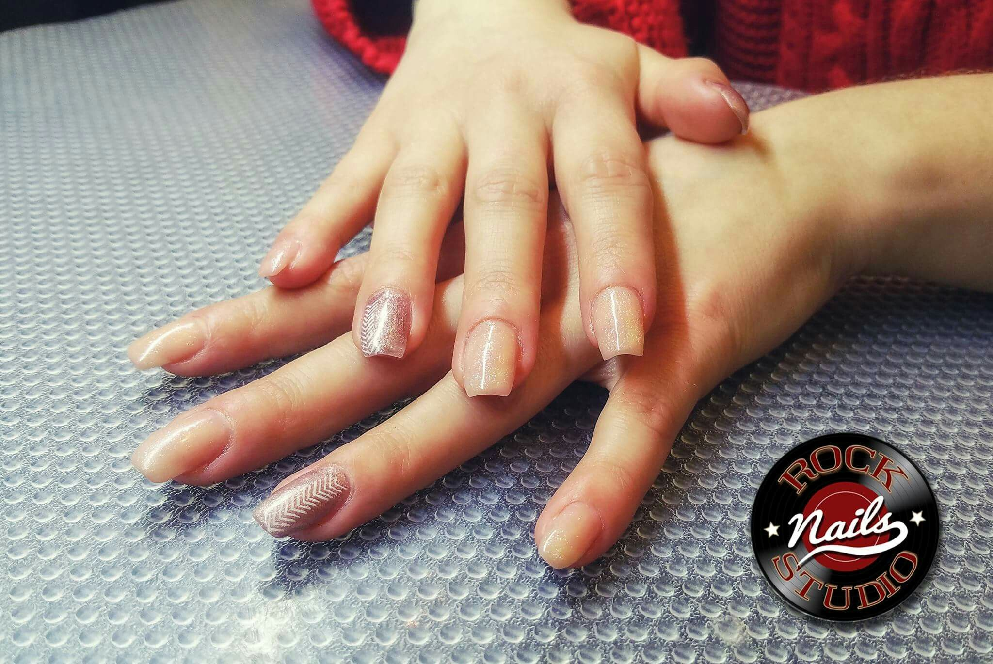 Gel Nails Extensions Nude Colours