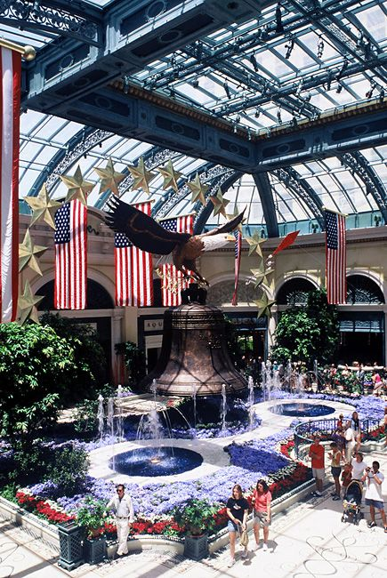 A spectacular Independence Day Display at that Audra Danzak designed exclusively for the Bellagio Conservatory in Las Vegas