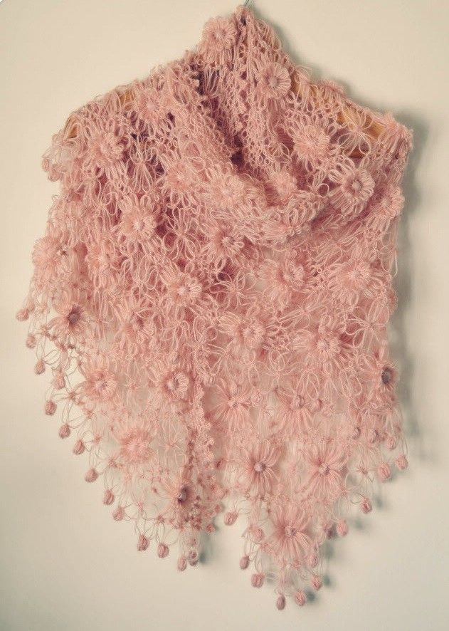 wrapped in cotton candy....  Pale Pink Shawl. $85.00, via Etsy.