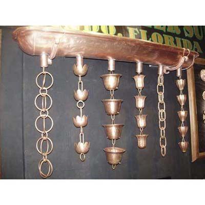 Cool Copper Rain Chain Copper Rain Chains Rain Gutter Chains