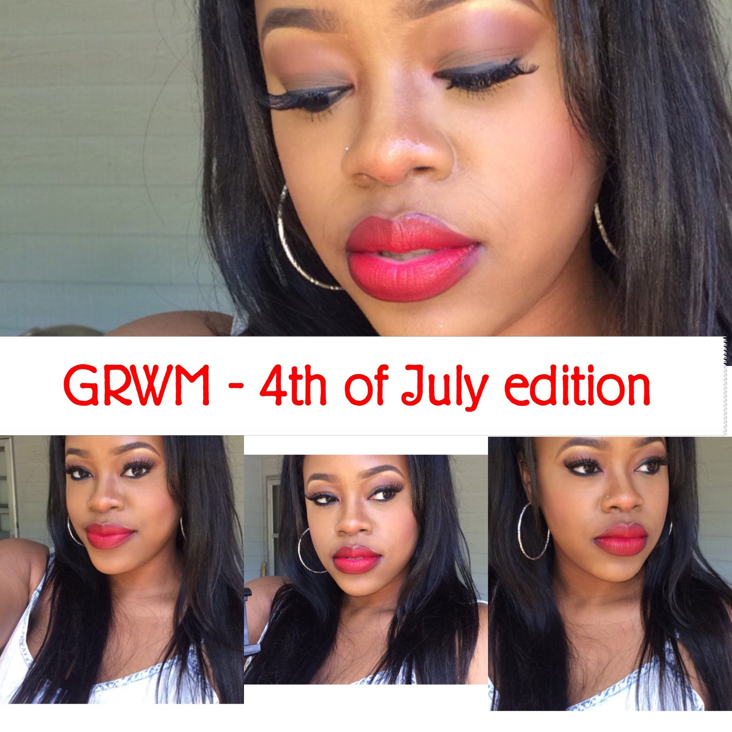 4th of july grwm makeup tutorial hair review ko glamour all 4th of july grwm makeup tutorial hair review ko glamour baditri Image collections