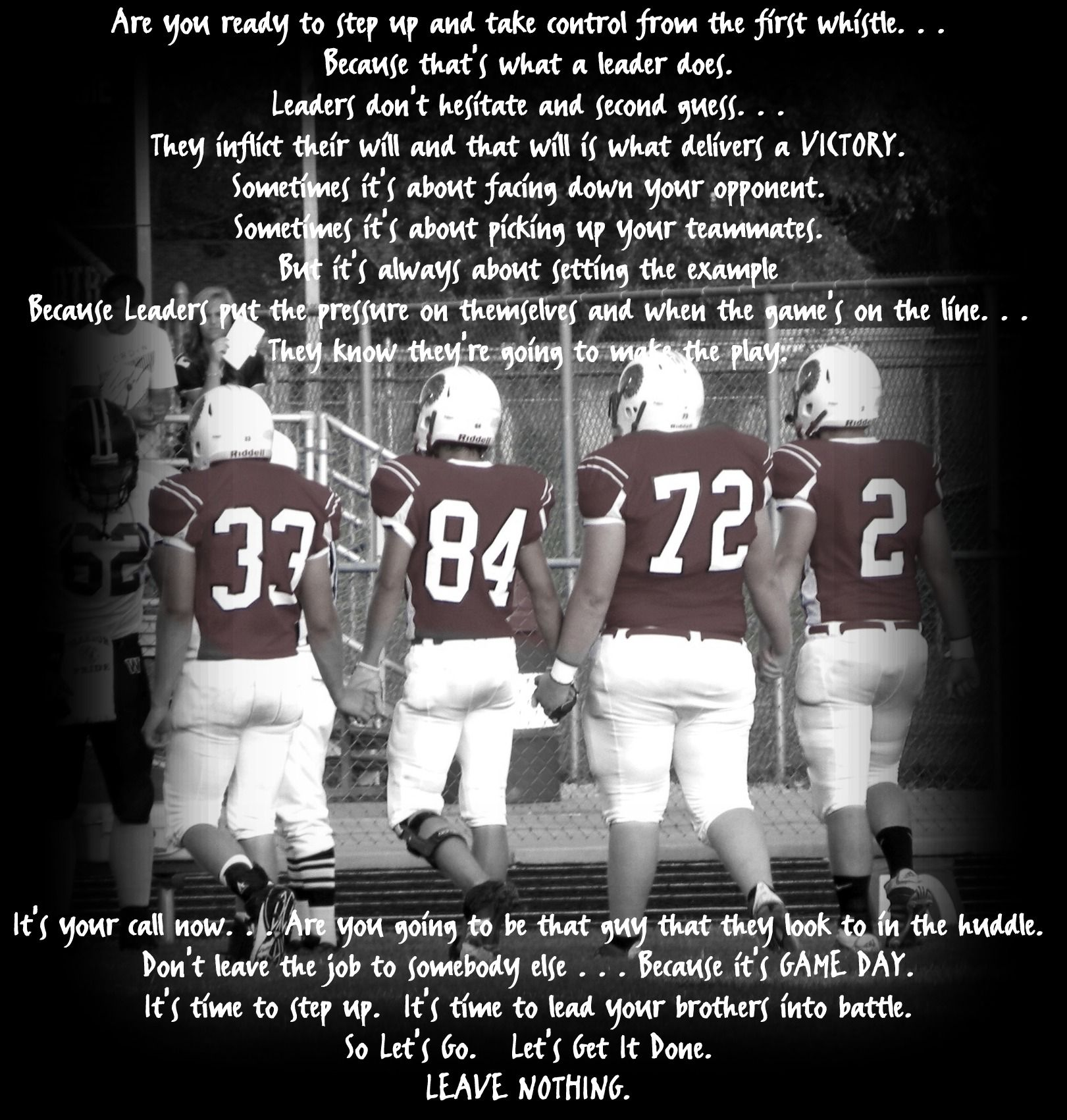 Football Team Motivational Quotes: Football Brotherhood Quotes. QuotesGram