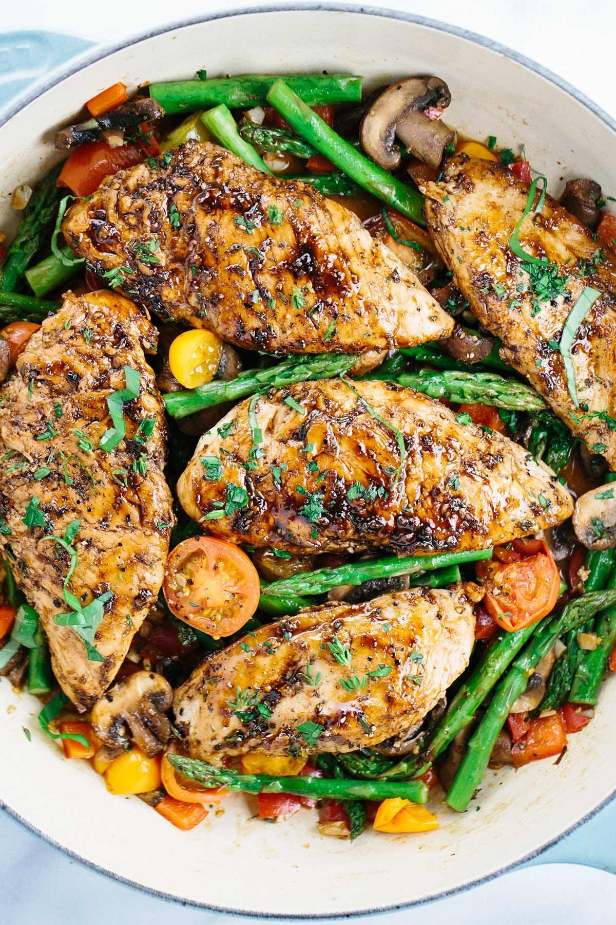 Balsamic chicken with vegetables recipe pins i love images