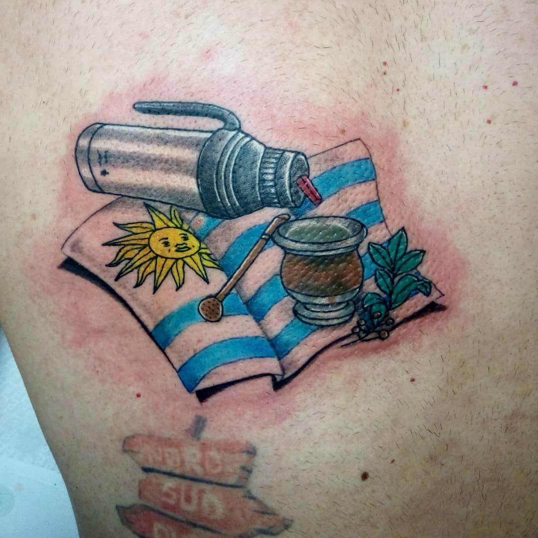 #dudetattoostudio #dudetattoo #ink #work #inklove #inklife #inkpassion #inkpeople #flag #flagtatto #uruguay #uruguayflag #iloveuruguay #mate #mateuruguay #tè #yerbamate #balibetovmate #thermos #thermosmate #gauchobruno #travel #wonderfultrip #newyear #newyeartrip #instagram #instatattoo #tattooofinstagram #tattooisforever #tattooisnotacrime