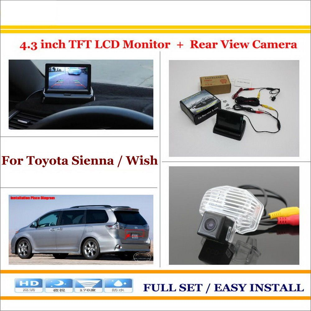 Auto Back Up Reverse Camera 4 3 Color Lcd Monitor 2 In 1