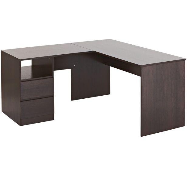 Como Corner Desk Would Get This But Dont Think Theres Enough Room Corner Desk Desk Value Furniture
