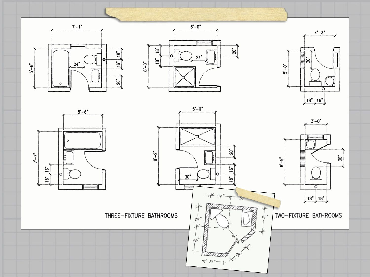 good layout options for small bathrooms  bathroom plans