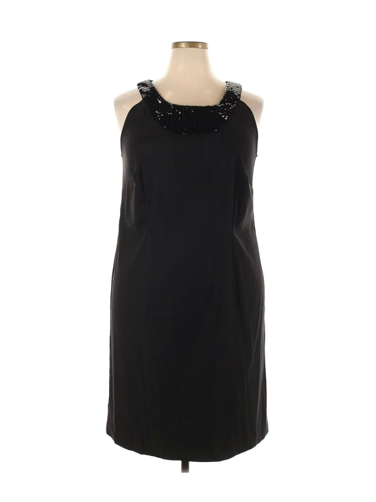 Connected Apparel Casual Dress Party Black Solid Dresses Used Size 18 In 2021 Casual Dress Connected Apparel Solid Dress [ 1024 x 768 Pixel ]