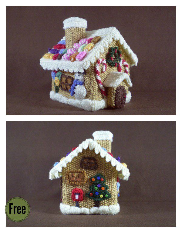Gingerbread House Free Knitting Pattern And Idea Knitting Patterns