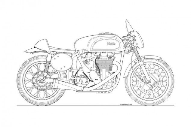 Photos Some Classic Motorcycle Line Art Drawings Line Art
