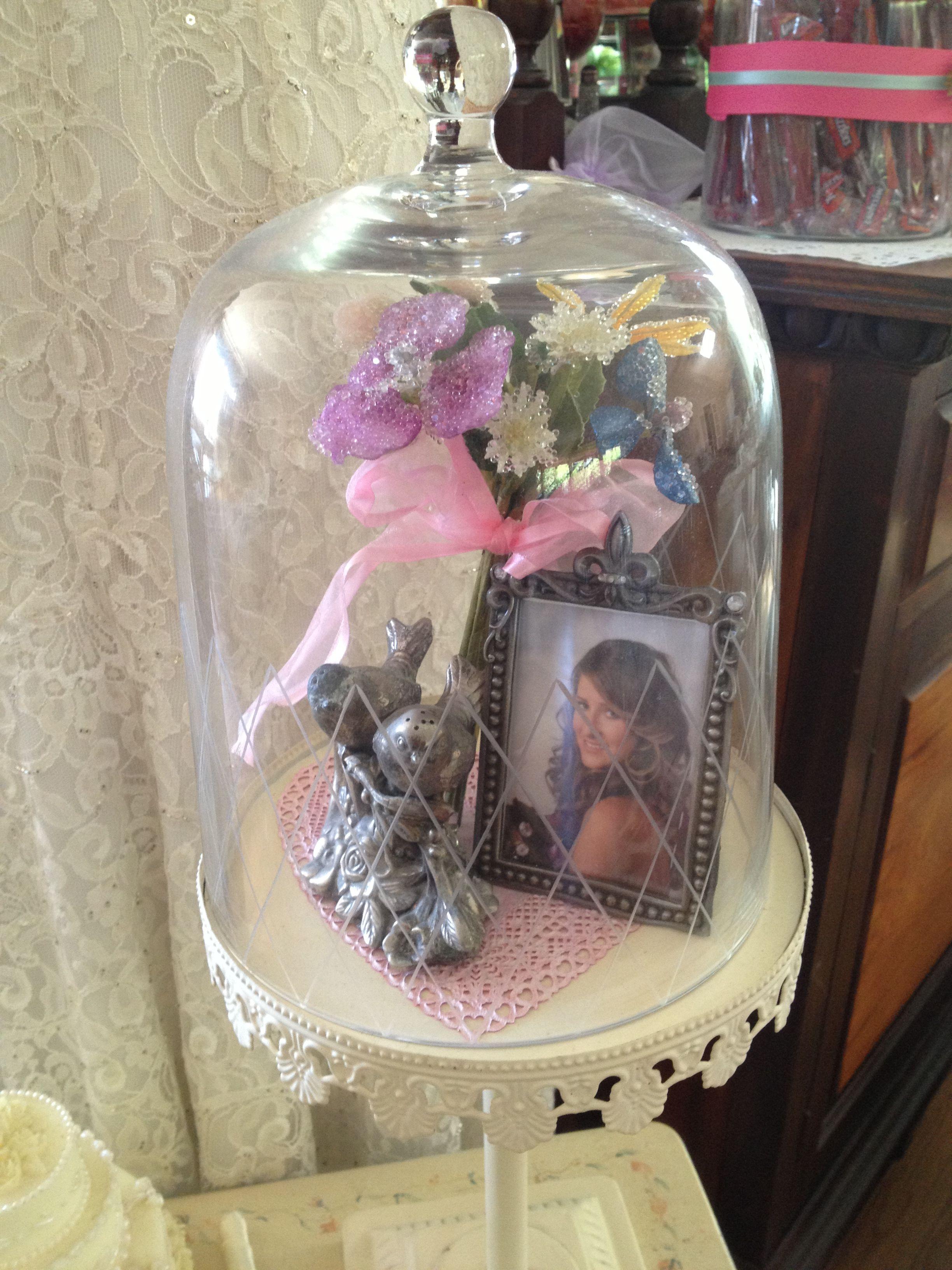 Vintage inspired Bride to be vignette for Bridal Shower.