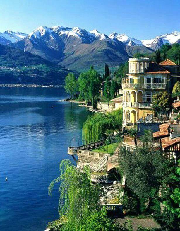 Lake Como northern Italy
