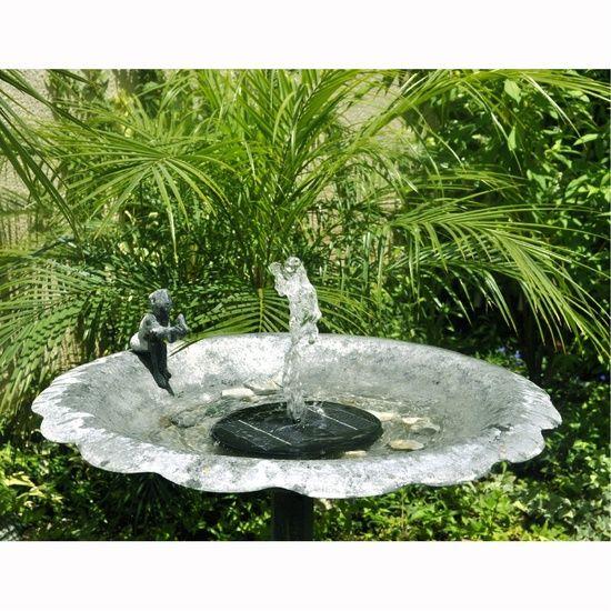 Turn A Bird Bath Into A Fountain Already Have A Nice Bird Bath You Can Convert It Into A Small Foun Bird Bath Solar Powered Fountain Solar Powered Water Pump