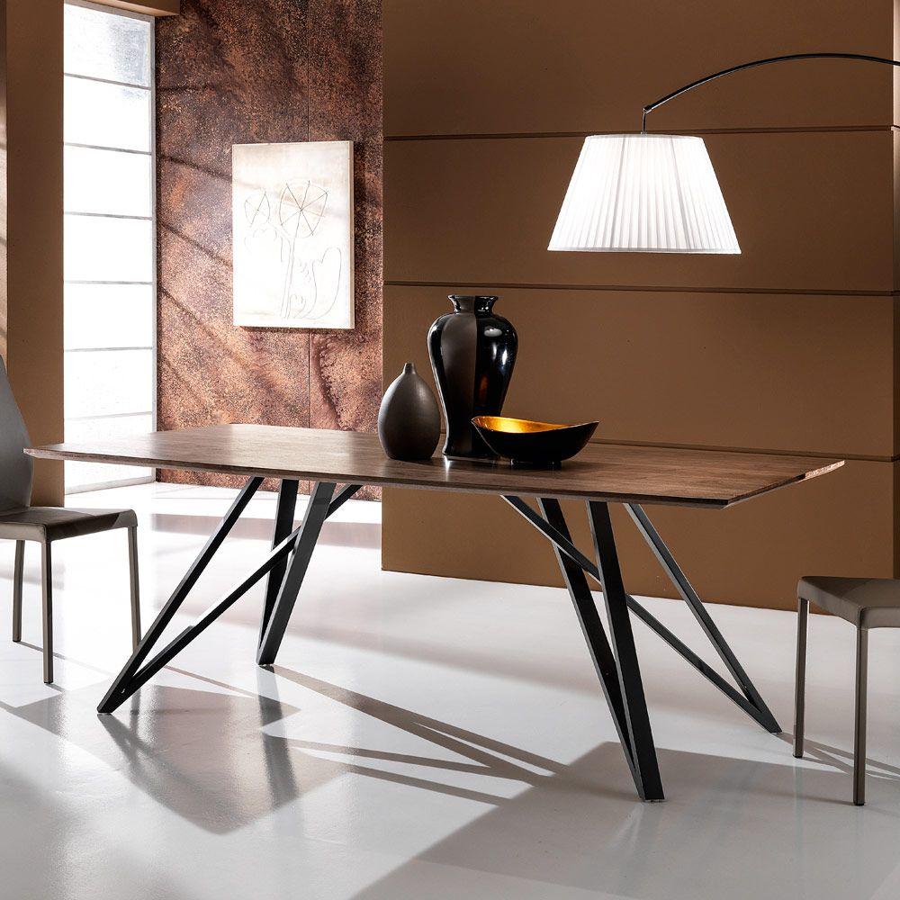 Moderner Esstisch aus Holz und Metall Puma, 200x100 cm