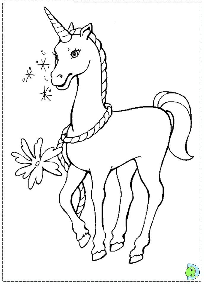 Sweet unicorn barbie of swan lake coloring page for kids