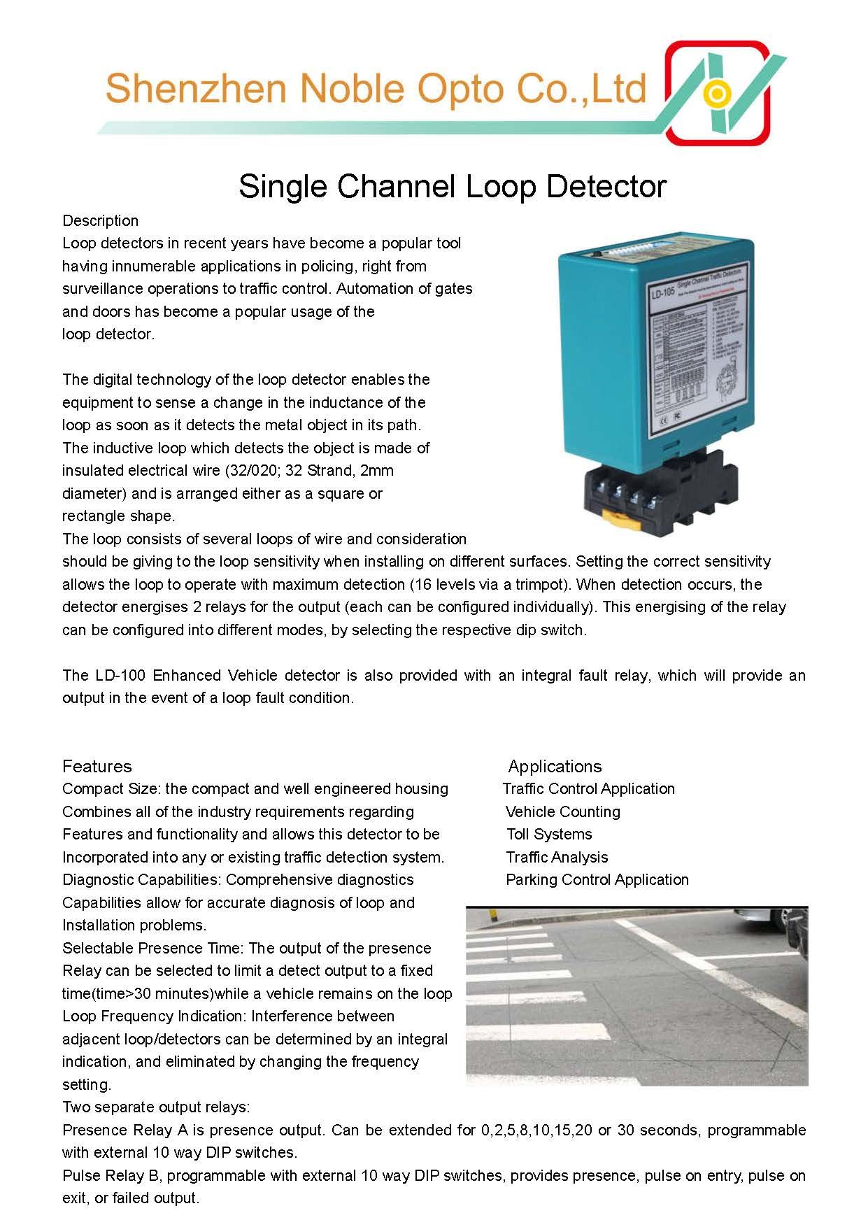 This Is Noble High Quality Loop Detector For Parking Bollards Autogate Control Our Single Way Sensors Working Voltage Detector Traffic Signal Led Street Lights